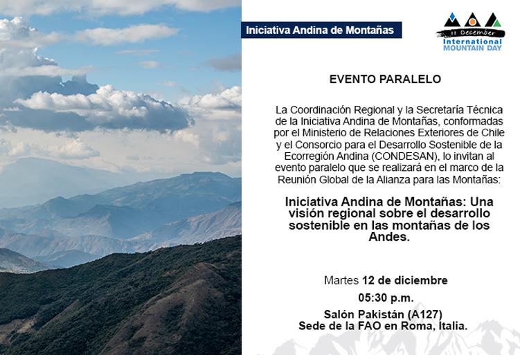 Presentación de la IAM en el marco de la Reunión Global de la Alianza para las Montañas en Roma