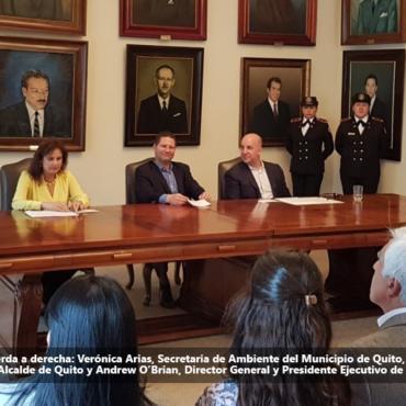 El Municipio y el Aeropuerto de Quito firman un compromiso de compensación de huella de carbono en los Bosques del Noroccidente de la ciudad