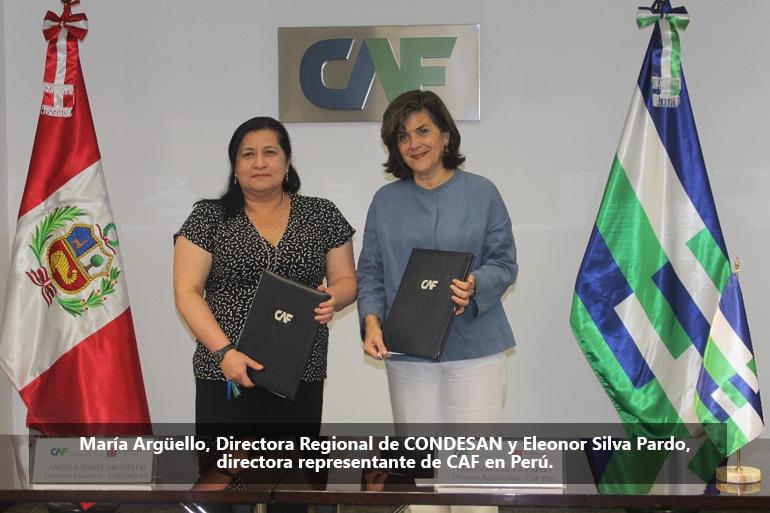 """CAF Y CONDESAN firman el convenio para el arranque del """"Proyecto de Adaptación en los Andes a los Impactos del Cambio Climático en el Sector Agua – AICCA"""""""