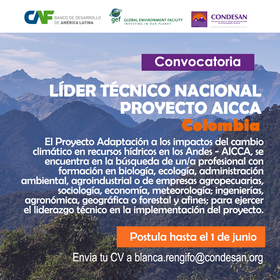 Convocatoria: Líder Técnico Nacional del Proyecto AICCA – Colombia