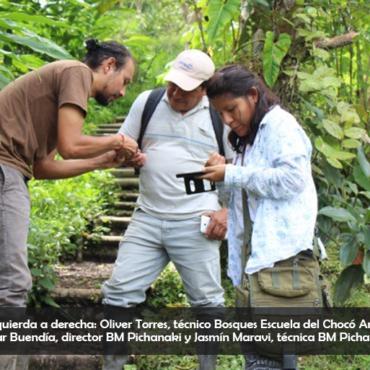 Una delegación del Bosque Modelo Pichanaki de Perú visitó el Bosque Modelo del Chocó Andino en Ecuador