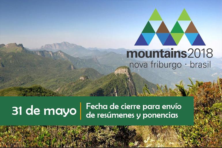 Mountains 2018: se acerca la fecha de cierre para envío de resúmenes y ponencias