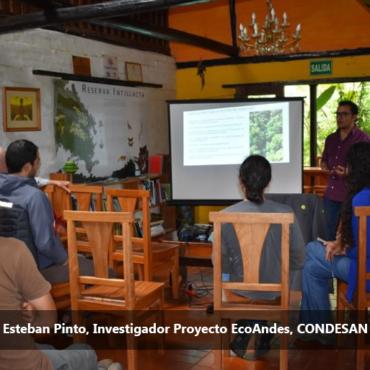 CONDESAN presenta localmente avances de las actividades de investigación y monitoreo que mantiene en el Noroccidente de Pichincha desde 2009