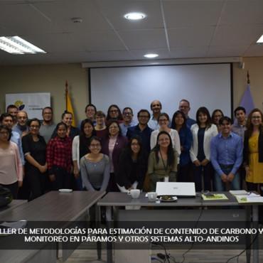 Se conforma el grupo de trabajo para homologar la metodología de estimación de carbono y definir un Sistema Nacional de Monitoreo en los Páramos de Ecuador