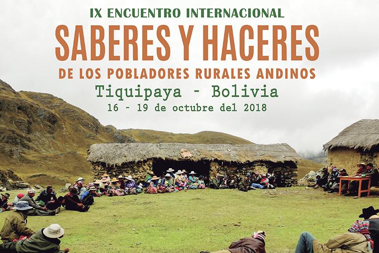 """Cochabamba, Bolivia será sede del IX Encuentro Internacional de """"Saberes y Haceres de los Pobladores Rurales Andinos"""""""
