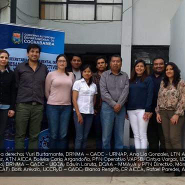 El Comité Nacional del Proyecto AICCA en Bolivia, realizó su primera reunión para el inicio de su implementación