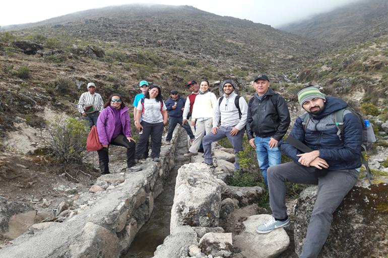 Especialistas de Perú y Colombia intercambiaron experiencias en la gestión de la adaptación al cambio climático en Huamantanga – Perú
