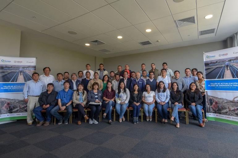 "Se realizó en Lima ""Taller de Actualización de Planes de Emergencia para Empresas Prestadoras de Servicios de Saneamiento"""
