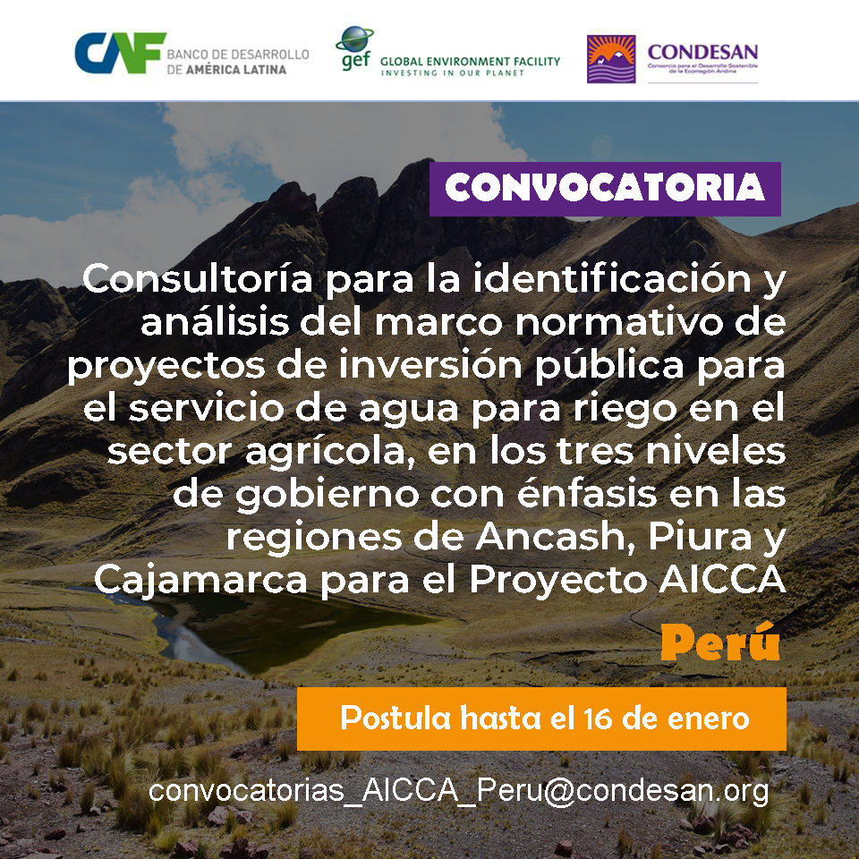 Convocatoria: Proyecto AICCA Perú