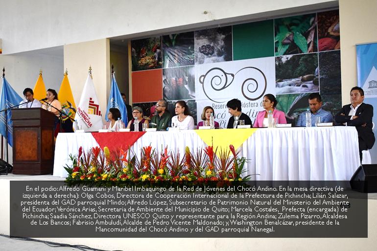 Red de Jóvenes del Chocó Andino participan de la Agenda Oficial en la entrega de la Declaratoria de Reserva de Biósfera por parte de la UNESCO