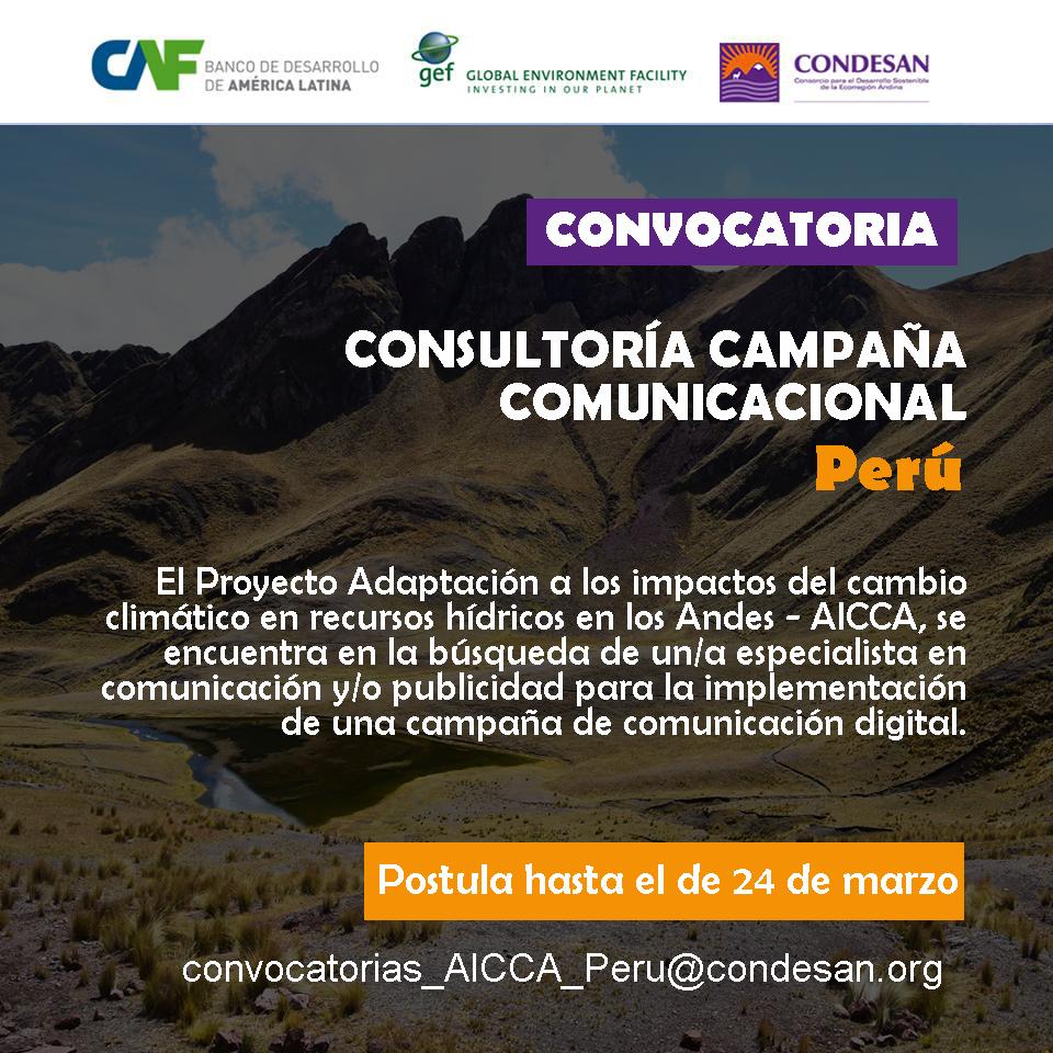 Convocatoria: Consultoría campaña comunicacional AICCA Perú