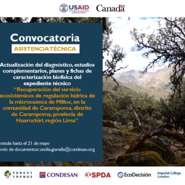 Convocatoria: Asistencia Técnica Perú