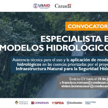 Convocatoria: Especialista en modelos hidrológicos – Perú