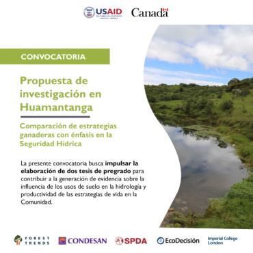 Convocatoria – Propuesta de investigación en Huamantanga