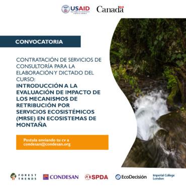 Convocatoria: Consultoría proyecto INSH – Perú
