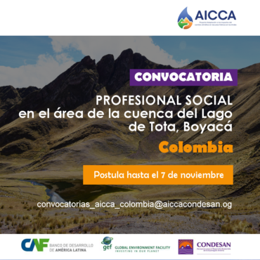 Convocatoria: PROFESIONAL SOCIAL DEL PROYECTO EN COLOMBIA