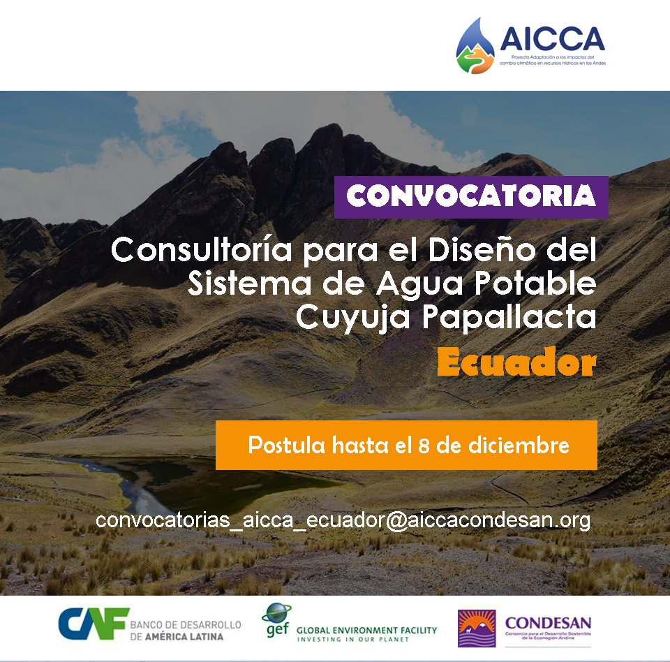 Convocatoria: Proyecto AICCA Ecuador