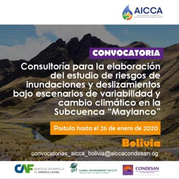 Convocatoria: Proyecto AICCA Bolivia