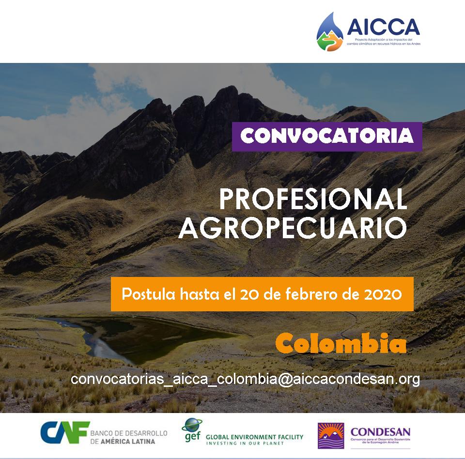CONVOCATORIA AICCA COLOMBIA: Profesional en Ciencias Agropecuarias