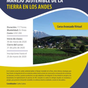 CURSO AVANZADO VIRTUAL MANEJO SOSTENIBLE DE LA TIERRA EN LOS ANDES