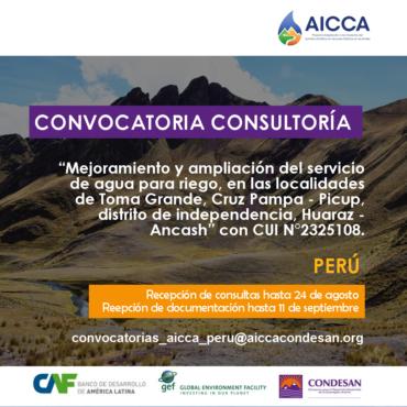 Convocatoria consultoría – AICCA Perú