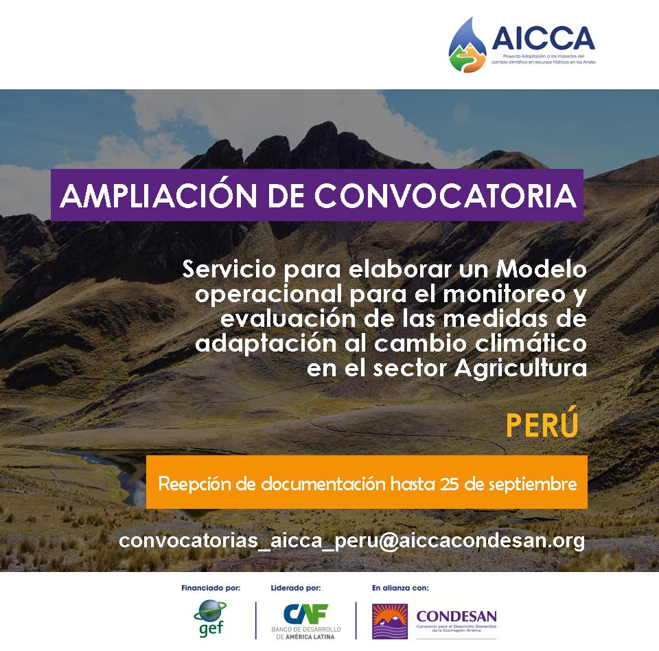 AMPLIACIÓN DE CONVOCATORIA AICCA – PERÚ