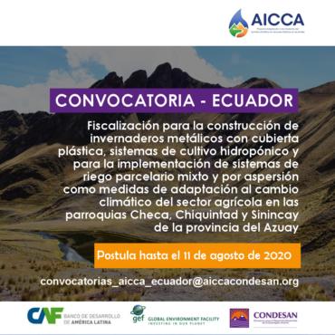 Convocatoria AICCA – Fiscalizador Ecuador