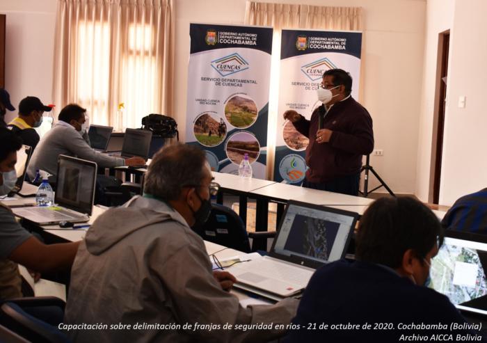 El Proyecto AICCA Bolivia promueve el fortalecimiento de capacidades para la prevención de riesgos de inundaciones en Cochabamba