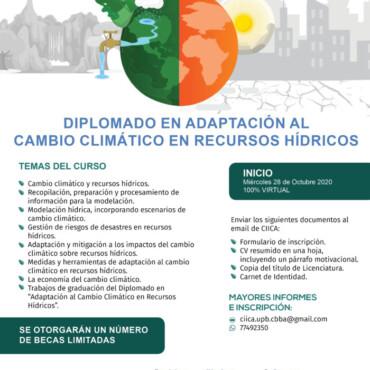 DIPLOMADO EN ADAPTACIÓN AL CAMBIO CLIMÁTICO EN RECURSOS HÍDRICOS