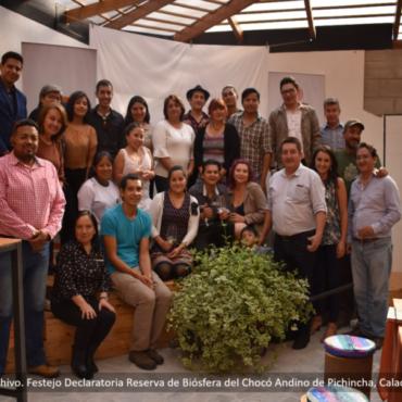 La Red de Jóvenes del Chocó Andino presentó a las autoridades su posición frente a la Reserva de Biósfera del Chocó Andino de Pichincha