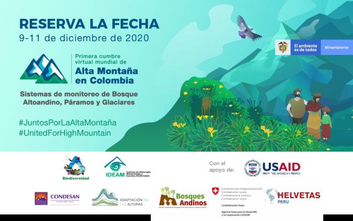 Participa en la Primera Cumbre Virtual Mundial de Alta Montaña en Colombia
