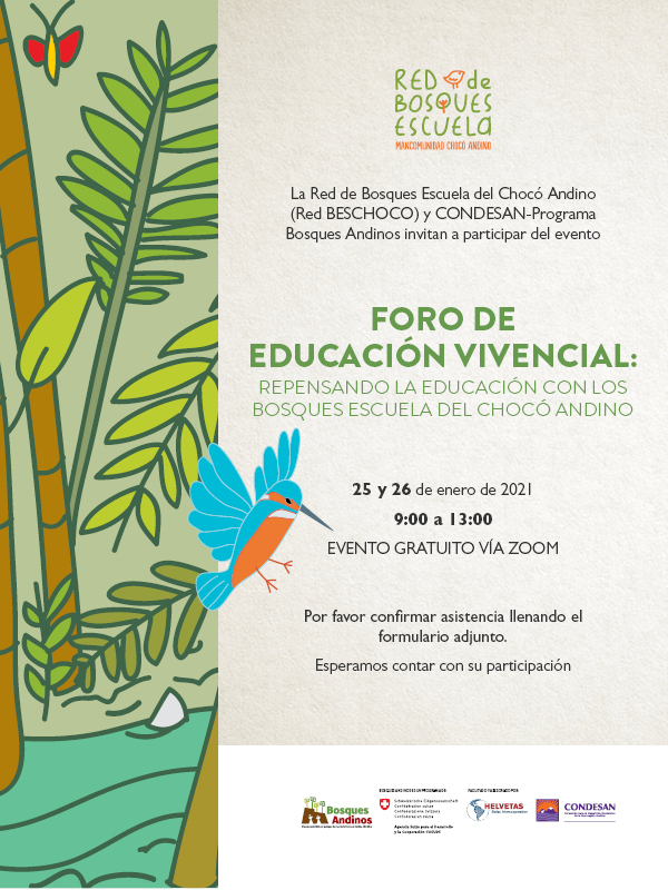 Foro de educación vivencial: repensando la educación con los bosques escuela del Chocó Andino
