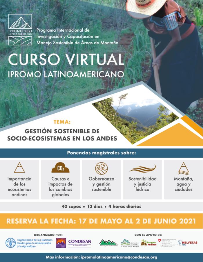 IPROMO 2021 Latinoamericano: Gestión sostenible de socio-ecosistemas en los Andes
