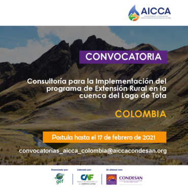 Convocatoria AICCA Colombia