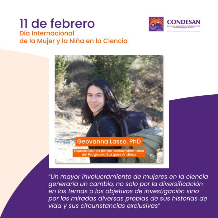 Mujeres en la Ciencia: Geovanna Lasso