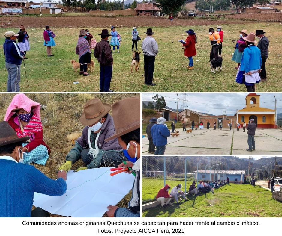 Comunidades andinas originarias Quechuas en Áncash – Perú hacen frente al cambio climático con apoyo de AICCA