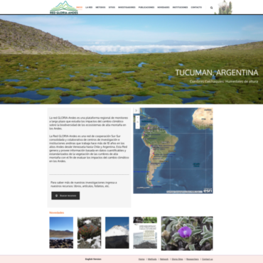 La Red de monitoreo ambiental de las cumbres andinas, GLORIA Andes, relanza su página web
