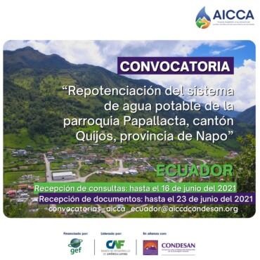 CONVOCATORIA AICCA ECUADOR