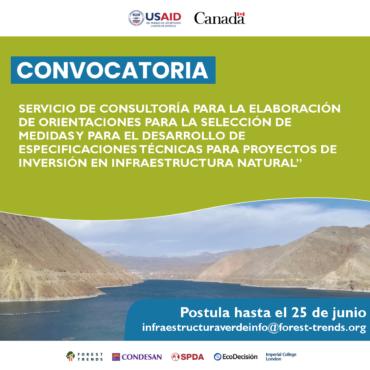 Convocatoria consultoría INSH Perú