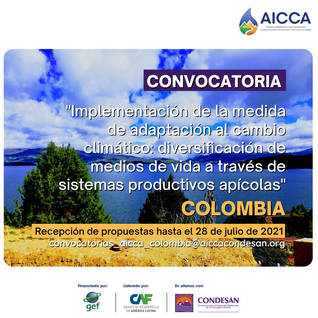 Convocatoria: Implementación de la medida de adaptación al cambio climático: sistemas productivos apícolas, en la cuenca del Lago de Tota