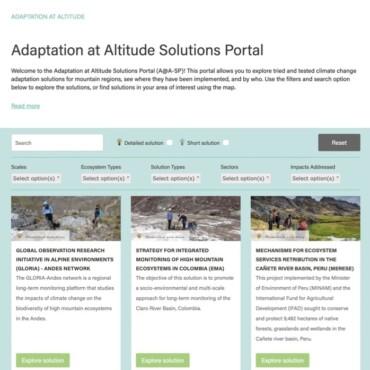 Un Portal de Soluciones para la Adaptación al Cambio Climático