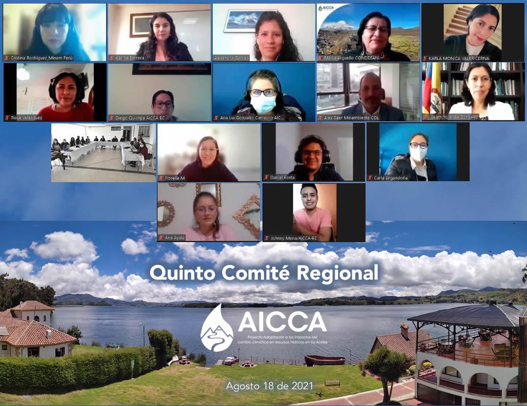 Se lleva a cabo el Quinto Comité Regional AICCA para orientar las acciones del último año de ejecución