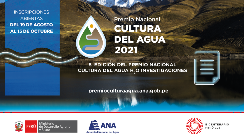 Reconocerán proyectos y publicaciones innovadoras vinculadas a la gestión del agua en el Perú