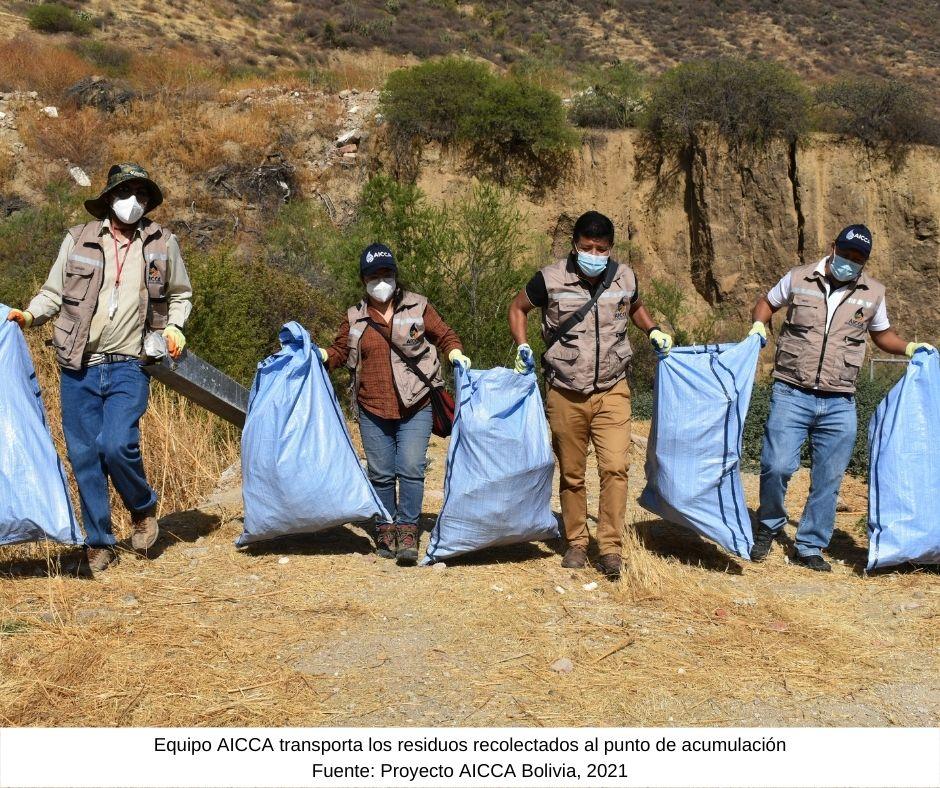 Sacaba realiza campañas de recolección de residuos  para proteger sus fuentes de agua y adaptarse al cambio climático