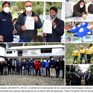 Recorrido en el marco del 23 aniversario del Comité de Conservación de la Cuenca del Machángara evidencia importantes avances de AICCA en Ecuador